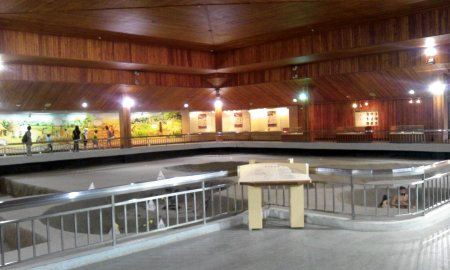 Dentro alla sala esposizioni, ala A